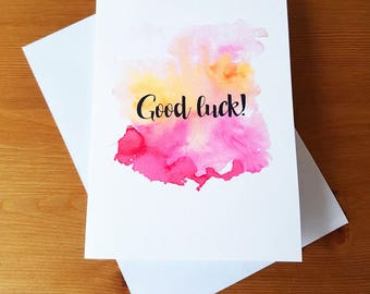 Watercolor card etsy quick view good luck card watercolour m4hsunfo