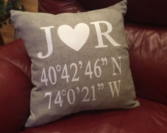 Personalized Coordinates Pillow Case