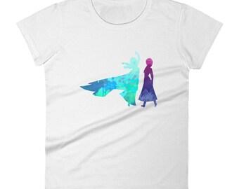 Elsa and Anna Inspired Women's short sleeve t-shirt