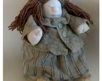 Handmade doll Fabric doll Cloth doll Art doll Home doll
