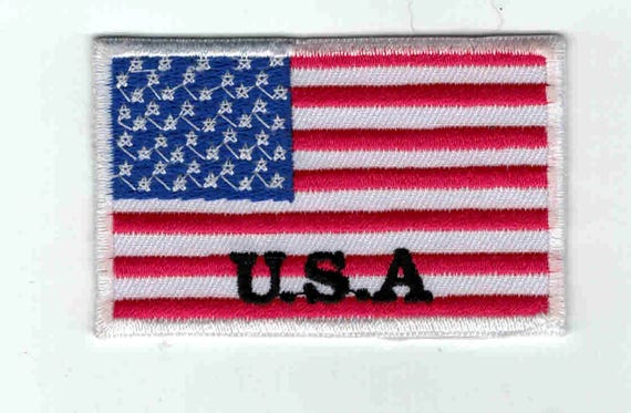 "Patch fusible trend pattern ""American flag"""