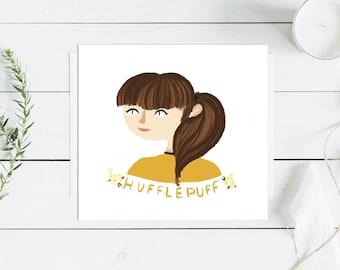 Hufflepuff Girl Print