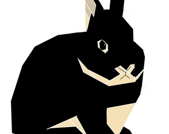 Netherland Dwarf Rabbit paper-piecing pattern, PDF
