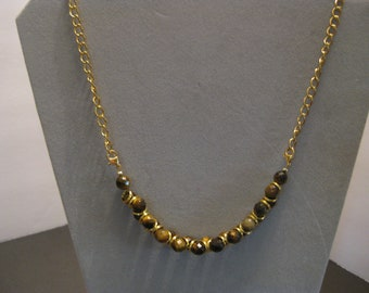 Faceted Tiger eye necklace 20 in.