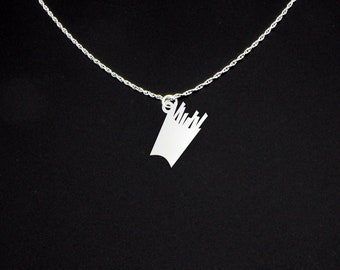 Fries Necklace - Fries Gift - Fries Jewelry