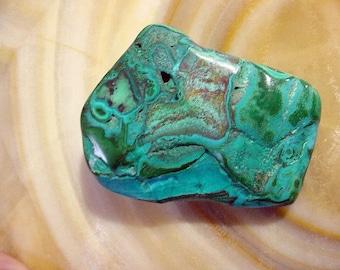 NEW Malacholla polished specimen Malachite/Chrysocolla 150ct Transformation Stone Lapidary Collectible Green Blue Bulls Eye Chakra 17T129B