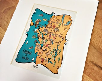 Oakland Map Art Print