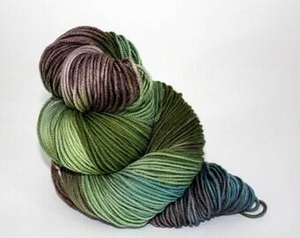 Hand-Painted Worsted Superwash Merino Wool Yarn - Fresh Spring Pastures