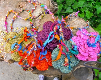 Funky Crocheted Flower Bag