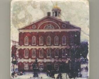 Faneuil Hall in Boston -  Original Coaster