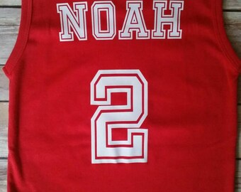 Personalized Toddler Basketball Jersey
