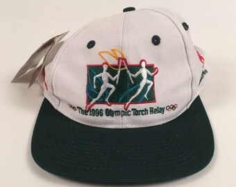 NWT Vintage 1996 Atlanta Olympic Torch Relay Snapback The Game Hat Cap Coca Cola