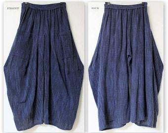 ComfyPlus Pants,Hand spun Cotton Flax Pants, Lagen look Pants, Plus size Pants. Buy the Matching top Separately.