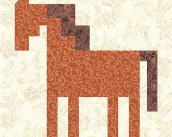 Patch Pony quilt block pattern