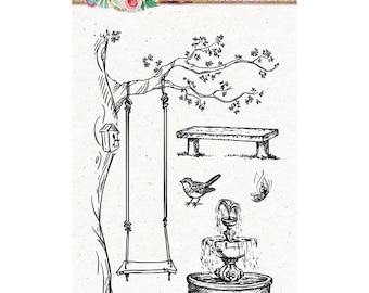 A6 garden Sweet romance - STAMPSR129 clear stamp