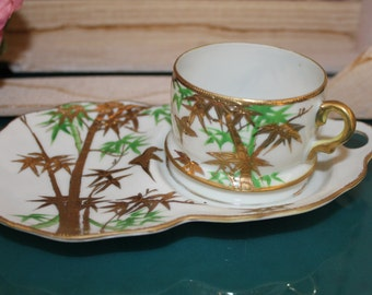 Bamboo Pattern Luncheon Set