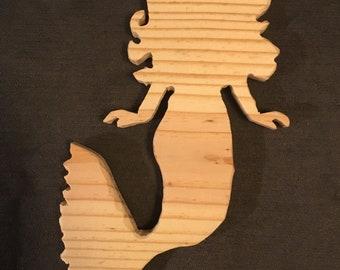 Carved Wooden Mermaid
