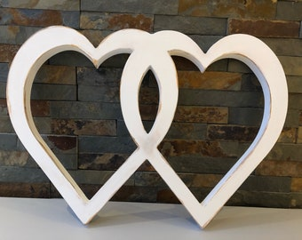 Entwined Painted Hearts
