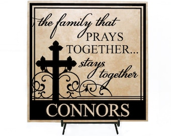 A family that prays together stays together scripture