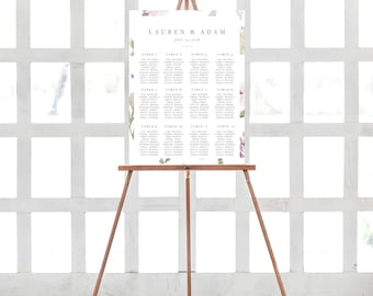 Wildflower Wedding Seating Chart Template Floral Wedding Seating Chart Wild Flower Wedding Template Printable Seating Sign Template DIY Sign