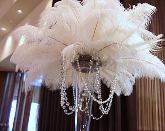 ExoticFeathersLA Ostrich Feather CenterPieces by exoticfeathersLA