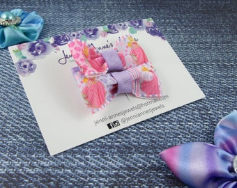 Bow Tie Hair Clip - Set of 2 - Sleeping Beauty Aurora