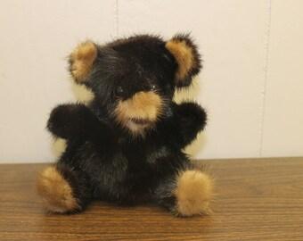 """Vintage Rare Bear Mink Teddy Bear - 1982 - 6"""" Tall"""