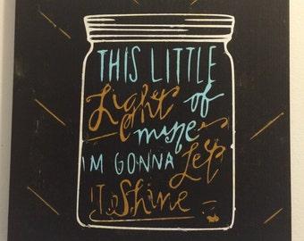 Wooden Sign - This Little Light