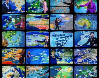 TV WEATHER Fine Art Travel Photography Print 11 x 14 Inches
