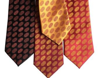 Coney Dog Necktie. Wieners! Hotdog Party Printed Tie. Hot dog silkscreen men's necktie. Detroit Coney, Chicago Dog, Hot Dog lover gift.