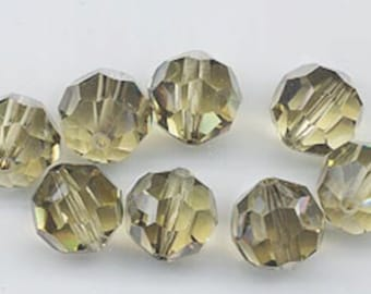 "12 Swarovski crystals with ""satin"" effect - art. 5000 - jonquil satin - 10 mm"