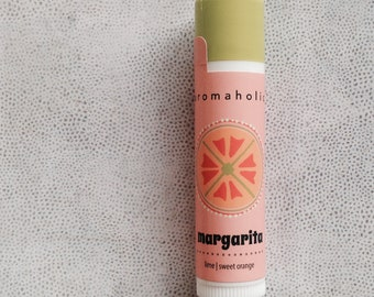 Margarita lip balm - lime and sweet orange natural lip balm - Margarita flavored lip balm