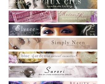 Etsy personnalisé bannière et Avatar Branding Design