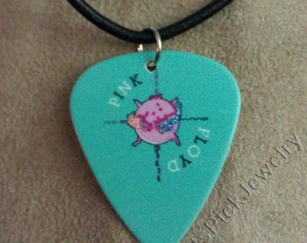Pink Floyd Animals Album Cover Art Guitar Pick Necklace