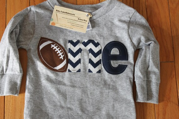 One football shirt navy, 1st birthday footballl theme shirt, boys first birthday shirt, Sports birthday theme shirt, boys clothes