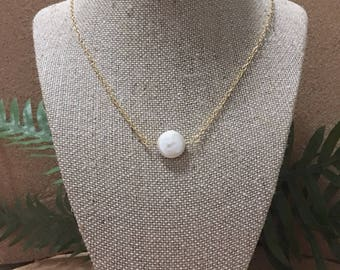 Pearl Gold Plate Handmade Necklace