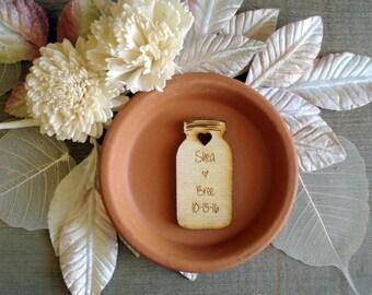 65 Mason Jar Wedding favors Personalized Wood Cut out Shower Favor Barn Wedding Farm wedding