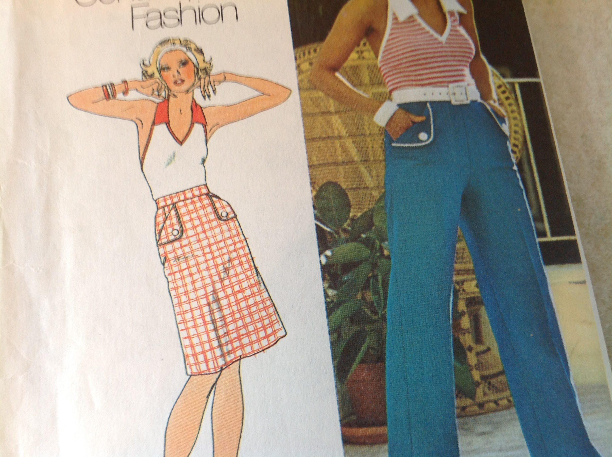 Vintage Simplicity Pattern 6462, 70\'s Pattern, Halter Top Pattern ...