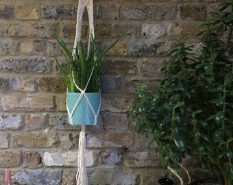 Macrame Plant Hanger Natural Cotton