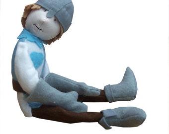 Sir Cloth, soft toy knight digital sewing pattern
