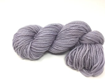 Gray Bulky 100% wool yarn, 3.5 oz - 120 yards