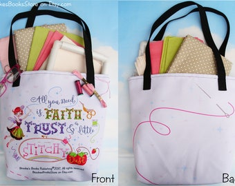 The Stitch Fairy's Stitchy Dust Tote Bag - A large Tote For All Your Stash Needs!