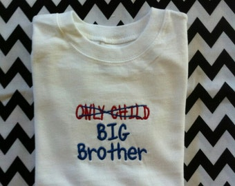 Only Child Big Brother Shirt Announcement