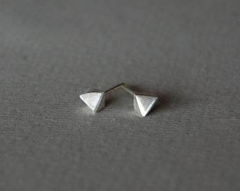 Small stud earrings, silver stud earrings, minimalist silver studs, sterlins silver stud, geometric studs,   for him