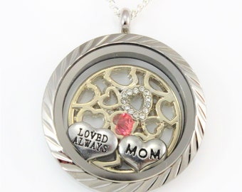 Mom Remembrance, Mom Jewelry in Loving Memory, Memorial Jewelry, Keepsake Jewelry Memory, In Loving Memory of My Mom, Memorial Necklace