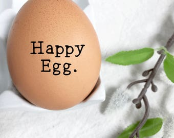 Egg Stamp - Happy Egg - Chickens - Backyard Chickens - Fresh Eggs - Homesteading - Free Range Chickens