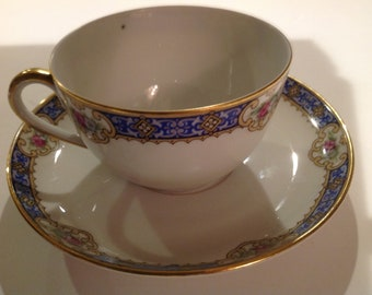KPM Germany Tea Cup and Saucer