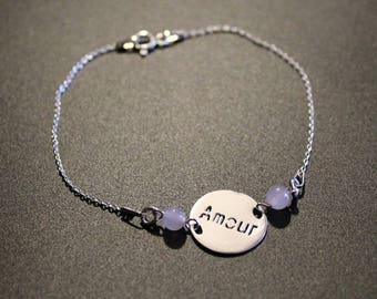 Rose Quartz love bracelet