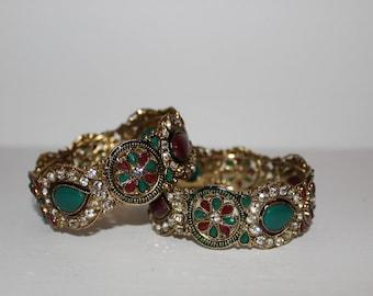 Indian Bangle Jewled Bracelets.