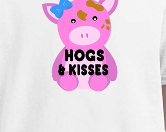 Hogs and kisses, valentine shirts, funny shirts, personalized shirts